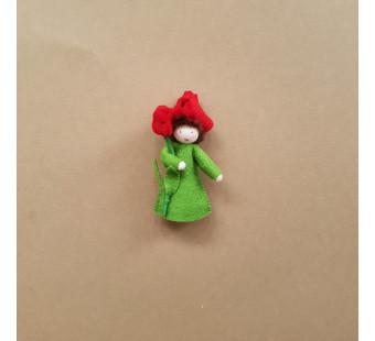 vilten poppetje rode tulp