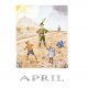Poster April (Elsa Beskow)