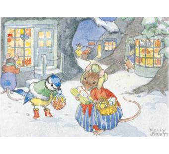 Postcard A Victorian Christmas scene  (Molly Brett)