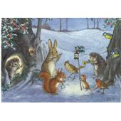Postal card Christmas Carol (Molly Brett)