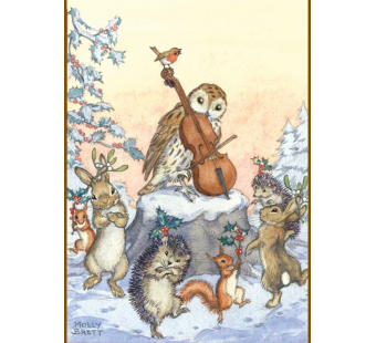 Postcard A tune for Christmas (Molly Brett)