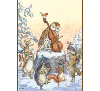 Postkaart A tune for Christmas (Molly Brett) 198