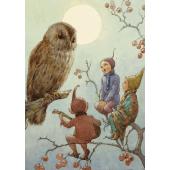Postkaart  A Carol for Brown Owl  (Margareth Tarrant)