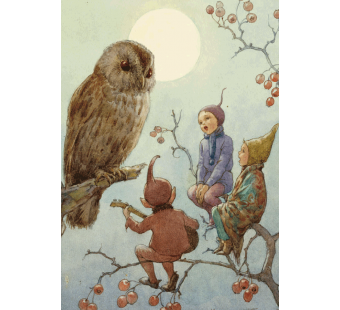 postal card  A Carol for Brown Owl  (Margareth Tarrant)