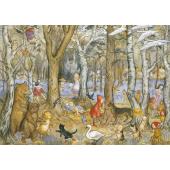 postkaart Fairies and Foxgloves (Molly Brett)