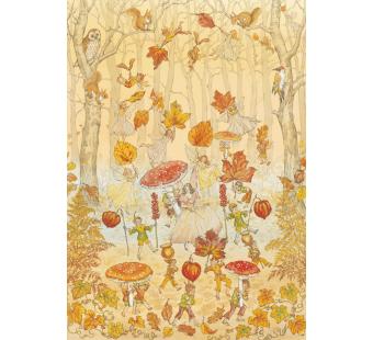 Postkaart Autumn Procession (Molly Brett) 063