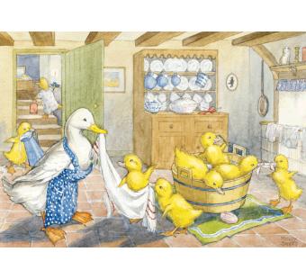 Postkaart Ducklings bath time (Molly Brett) 075