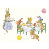 Postcard Rabbit Birthday party  (Molly Brett)