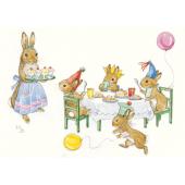 Postkaart Rabbit Birthday party (Molly Brett)