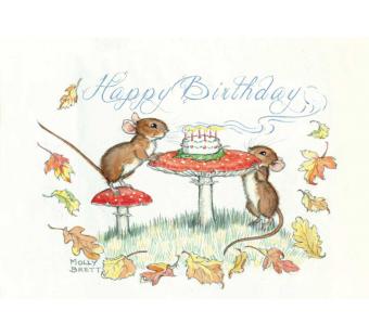 Postkaart Happy birthday Mice (Molly Brett) 211
