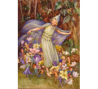 Postkaart Spring flowery cloak (Magareth Tarrant)