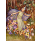 Postal card Spring flowery cloak (Magareth Tarrant)