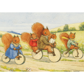 Postkaart  The bicycle Ride  (Margaret Tempest)