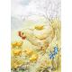 Postcard Hen and Chicks (Eileen Chander)