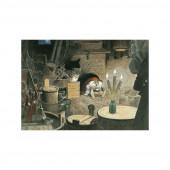 Postkaart Tomteaan het eten (Wiberg)