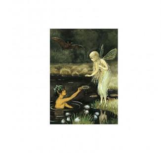 Postcard Elf by the water  (Elsa Beskow)
