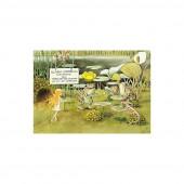 Postkaart luch bij de padden (Elsa Beskow)