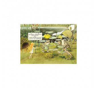 Postcard lunch with the toads (Elsa Beskow)