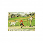 Postcard girl with goat  (Elsa Beskow)