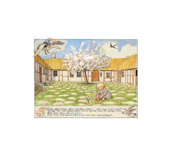 Postkaart peuter in de tuin   (Elsa Beskow)