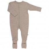 Joha jumpsuit bruingrijs met omslag 100% merinowol (56140)