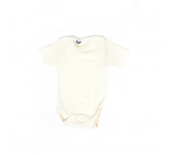 Cosilana body short sleeve cotton/wool/silk natural (91052)