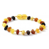 Raw amber bracelet multi colour