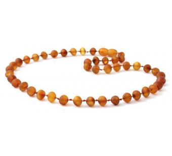 Unpolished Cognac Amber Teething Bracelet