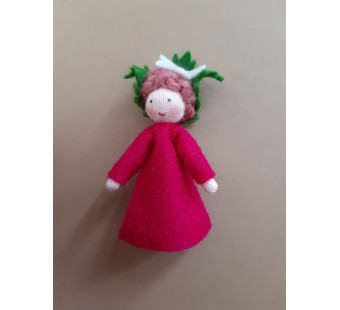 Seasonal doll raspberry