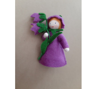 Seasonal doll Bellflower (Bluebell) with flowers in her hand