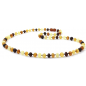 amber necklace multicolour for adults with a length of 45cm