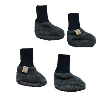Cosilana baby boots made of woolcotton fleece  navy  (48910)