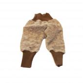 Cosilana babybroekje van wolkatoenfleece, bruin (48925)