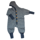 Cosilana Baby Hooded overall made of woolcottonfleece navy melange (48928)
