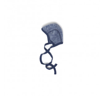 Cosilana woolcotton fleece bonnet navy (48939)