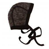 Cosilana woolcotton fleece bonnet brown (48939)