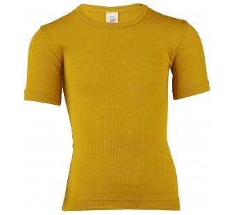 Engel wool silk thirt saffron