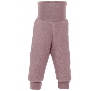 Engel woolfleece pants rosewood melange