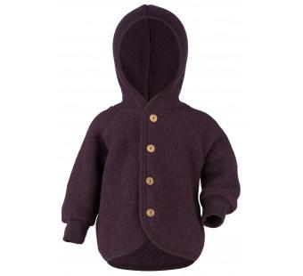 Engel woolfleece jacket with hood Lilac Melange