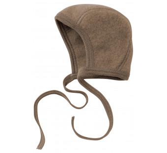 Engel woolfleece bonnet walnut melange