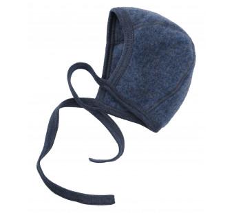 Engel woolfleece bonnet blue melange