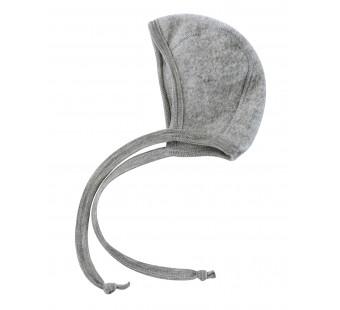 Engel woolfleece bonnet light grey melange