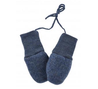 Engel woolfleece mittens Blue melange
