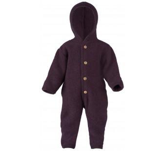 Engel woolfleece overall with hood lilac melange
