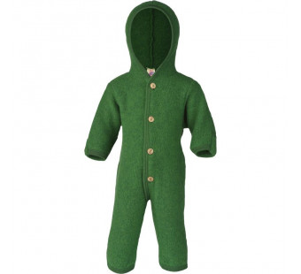 Engel woolfleece overall with hood green melange