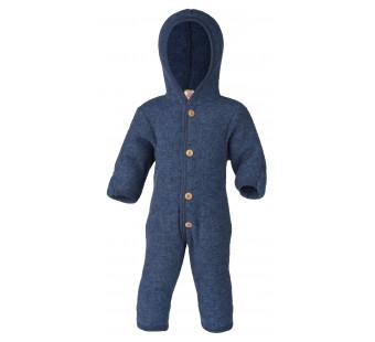 Engel woolfleece overall with hood blue melange