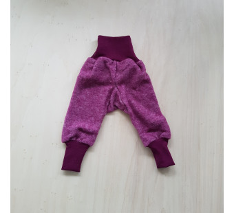 Cosilana pants woolcottonfleece wine red (48925)