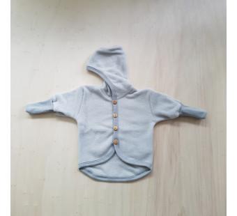 Cosilana woolcottonfleece jacket with hood lichtgrijs (48930)