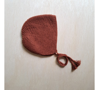 Lillelovaknits bonnet 'Ava' rust