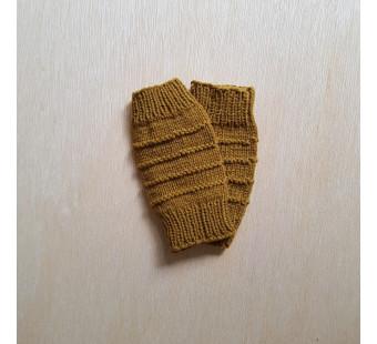 Lillelovaknits leg warmers mustard